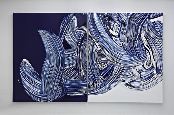 2006, Acrílica e óleo sobre tela, 180x304 cm (díptico)