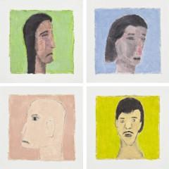 Detalhe do trabalho EX VOTOS, 2008-2015, 120 pinturas, 30x30cm cada, óleo sobre papel